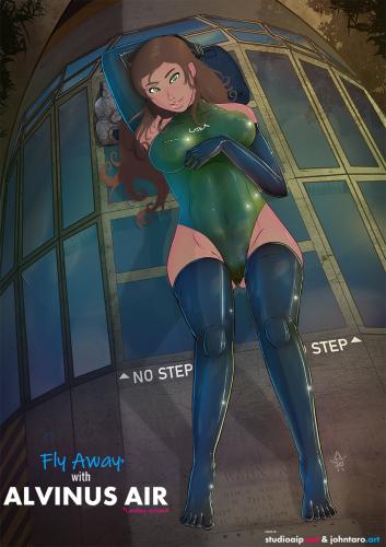 Alvinus-Air-Curlys-airline_Green-swimsuit