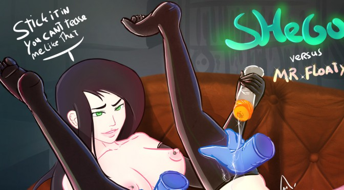 Shego vs Mr Floaty and a bottle of lube
